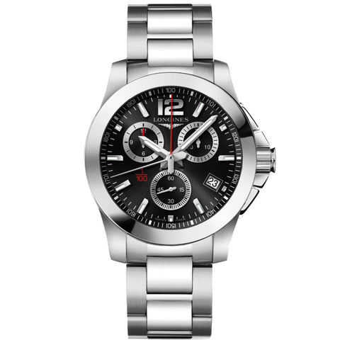 Longines - Men's Conquest 1/1000th Alpine Skiing Chronograph Quartz Watch L3.700.4.56.6