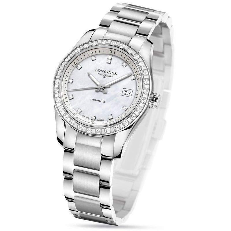 7f86b72ac Longines - Ladies' Conquest Classic Diamond Automatic L2.285.0.87.6