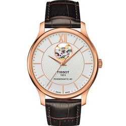 Tissot - Men's Tradition Automatic Open Heart Watch T063.907.36.038.00