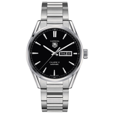 TAG Heuer - Men's Carrera Calibre 5 Day-Date Automatic Watch 41 mm Watch WAR201A.BA0723