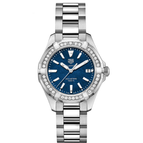 TAG Heuer - Ladies' Aquaracer Swiss Quartz Diamond Bezel 35 mm WAY131N.BA0748