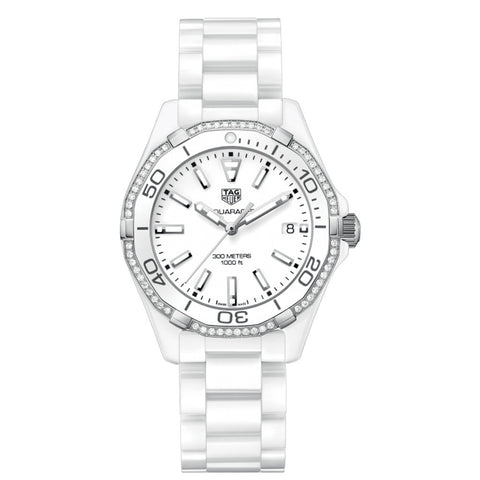 TAG Heuer - Ladies' Aquaracer Swiss Quartz Diamond Bezel 35 mm WAY1396.BH0717