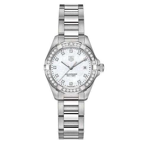 TAG Heuer - Ladies' Aquaracer Diamond Dial and Bezel 27 mm WAY1414.BA0920