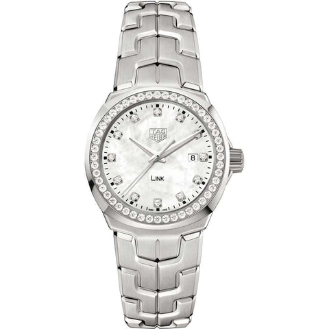TAG Heuer - Ladies' Link Diamond Bezel and Dial 32 mm WBC1316.BA0600