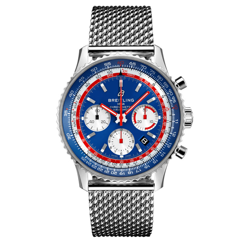 Breitling - Men's Navitimer B01 Chronograph 43 Pan Am Watch AB01212B1C1A1