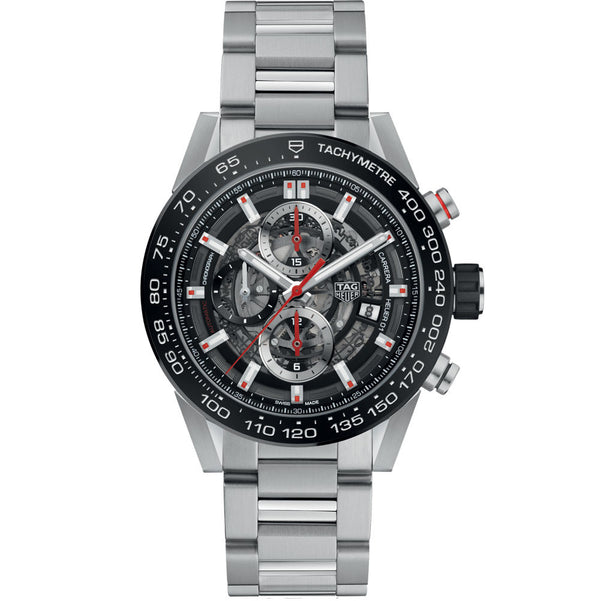 TAG Heuer- Men's Carrera Calibre Heuer 01 Automatic Chronograph Watch CAR201V.BA0714