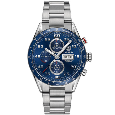 TAG Heuer - Men's Carrera Calibre 16 Day-Date Automatic Chronograph 43 mm Watch CV2A1V.BA0738