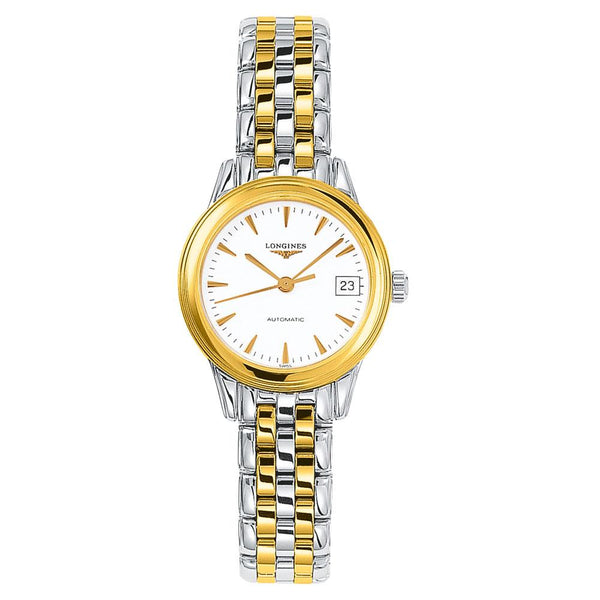 Longines - Ladies'  Flagship Automatic Bicolour Watch L4.274.3.22.7