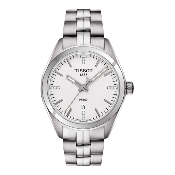 Tissot - Ladies' PR 100 Quartz Diamond Siver Watch T101.210.11.036.00
