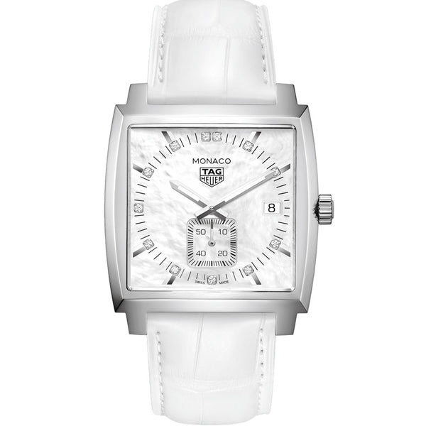 TAG Heuer - Ladies' Monaco Quartz Diamond 37 mm Watch WAW131B.FC6247