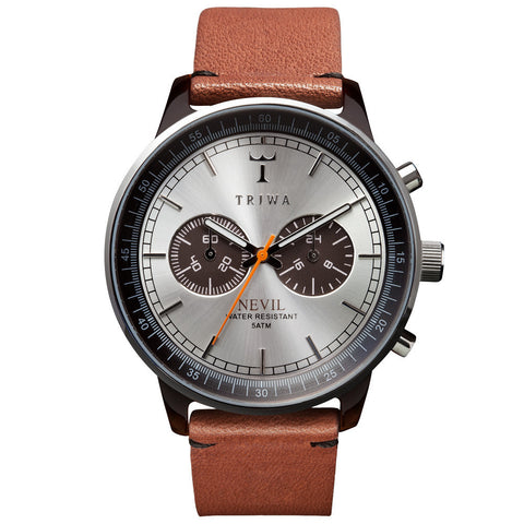 Triwa Unisex Havana Nevil Brown Brown Leather NEAC102.ST010212 Front
