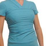 Teal cute nursing top for kangaroo care NICU - Vija Design