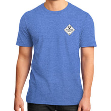 District T-Shirt (on man) Heather blue International Group of Anthony