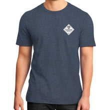 District T-Shirt (on man) Heather navy International Group of Anthony
