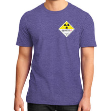 District T-Shirt (on man) Heather purple International Group of Anthony