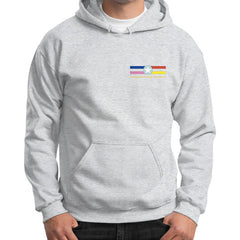 Gildan Hoodie (on man) Ash grey International Group of Anthony