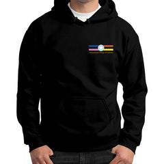 Gildan Hoodie (on man) Black International Group of Anthony