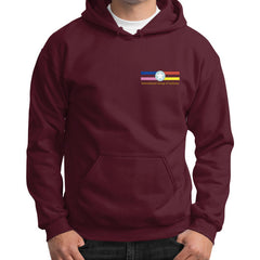 Gildan Hoodie (on man) Maroon International Group of Anthony