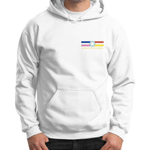 Gildan Hoodie (on man) White International Group of Anthony