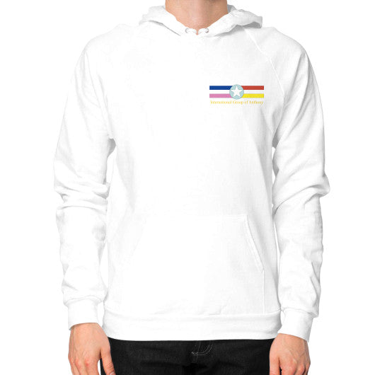 Hoodie (on man) White International Group of Anthony