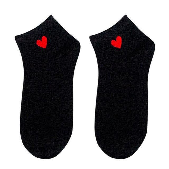 Girls Cotton Ankle Socks with Heart