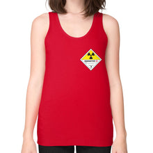 Unisex Fine Jersey Tank (on woman) Red International Group of Anthony