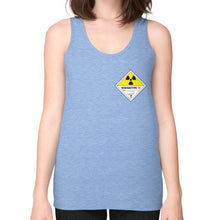 Unisex Fine Jersey Tank (on woman) Tri-Blend Blue International Group of Anthony