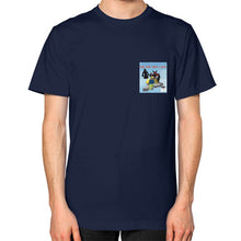 Unisex T-Shirt (on man) Navy International Group of Anthony