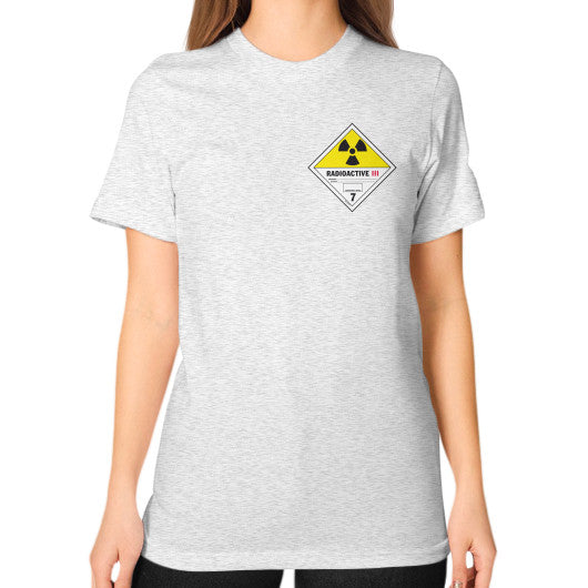 Unisex T-Shirt (on woman) Ash grey International Group of Anthony