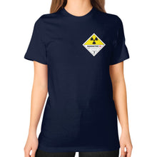 Unisex T-Shirt (on woman) Navy International Group of Anthony