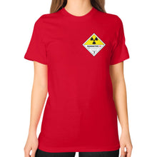 Unisex T-Shirt (on woman) Red International Group of Anthony