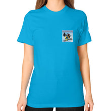 Unisex T-Shirt (on woman) Teal International Group of Anthony