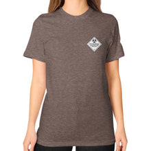 Unisex T-Shirt (on woman) Tri-Blend Coffee International Group of Anthony