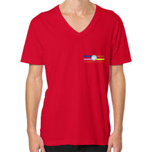 V-Neck (on man) Red International Group of Anthony
