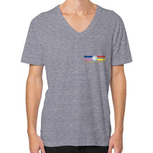 V-Neck (on man) Tri-Blend Grey International Group of Anthony