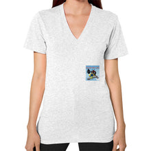 V-Neck (on woman) Ash grey International Group of Anthony