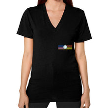 V-Neck (on woman) Black International Group of Anthony