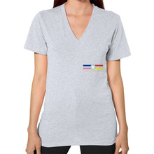 V-Neck (on woman) Heather grey International Group of Anthony