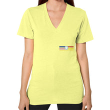 V-Neck (on woman) Lemon International Group of Anthony