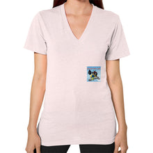 V-Neck (on woman) Light pink International Group of Anthony