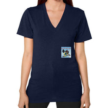 V-Neck (on woman) Navy International Group of Anthony