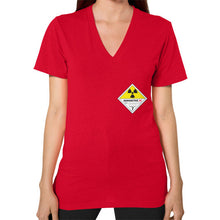 V-Neck (on woman) Red International Group of Anthony