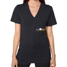 V-Neck (on woman) Tri-Blend Black International Group of Anthony