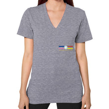 V-Neck (on woman) Tri-Blend Grey International Group of Anthony