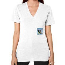 V-Neck (on woman) White International Group of Anthony