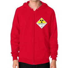 Zip Hoodie (on man) Red International Group of Anthony