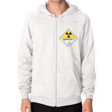 Zip Hoodie (on man) Tri-Blend Oatmeal International Group of Anthony