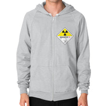 Zip Hoodie (on man) Tri-Blend Silver International Group of Anthony