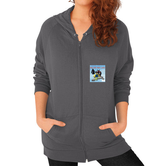Zip Hoodie (on woman) Asphalt International Group of Anthony