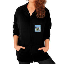 Zip Hoodie (on woman) Black International Group of Anthony